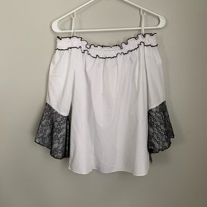 Zara White Off the Shoulder Top Sz S | NWT
